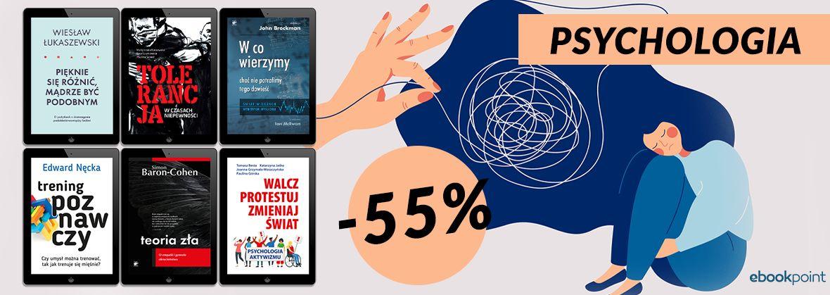 Promocja na ebooki PSYCHOLOGIA -55%